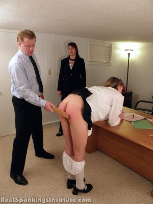 Real Spankings Institute - Monica Punished By Miss Blake And The Assistant Dean - image 16