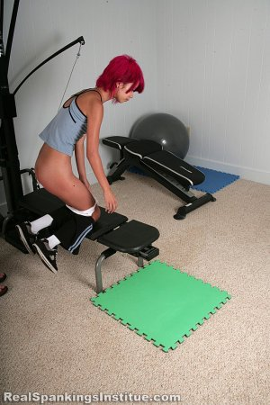Real Spankings Institute - Kiki Punished In The Gym By The Dean (part 2 Of 2) - image 7