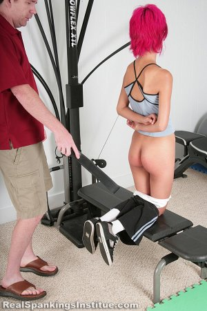 Real Spankings Institute - Kiki Punished In The Gym By The Dean (part 2 Of 2) - image 9