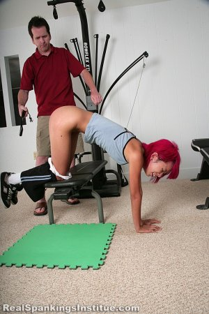 Real Spankings Institute - Kiki Punished In The Gym By The Dean (part 2 Of 2) - image 11