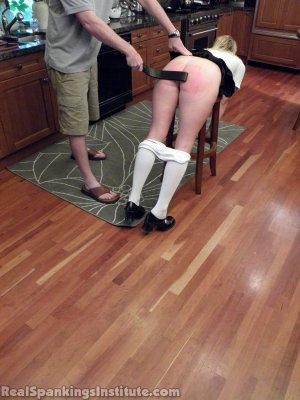 Real Spankings Institute - Brooke Strapped In The Kitchen - image 6