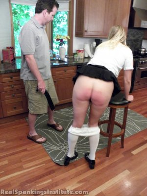Real Spankings Institute - Brooke Strapped In The Kitchen - image 10