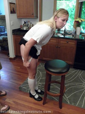 Real Spankings Institute - Brooke Strapped In The Kitchen - image 8