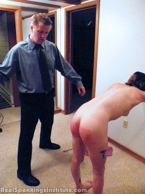 Real Spankings Institute - Allison: Nude Punishment With The Prison Strap - image 18
