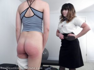 Real Spankings Institute - Monica Spanked For Slacking Off And Improper Uniform (part 2 Of 2) - image 6
