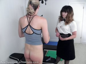 Real Spankings Institute - Monica Spanked For Slacking Off And Improper Uniform (part 2 Of 2) - image 1