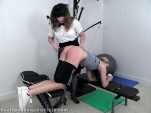 Real Spankings Institute - Monica Spanked For Slacking Off And Improper Uniform (part 2 Of 2) - image 16
