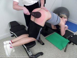 Real Spankings Institute - Monica Spanked For Slacking Off And Improper Uniform (part 2 Of 2) - image 11