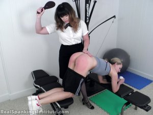 Real Spankings Institute - Monica Spanked For Slacking Off And Improper Uniform (part 2 Of 2) - image 14
