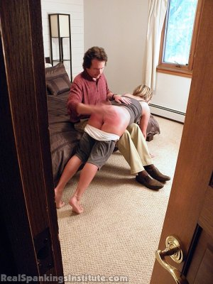 Real Spankings Institute - Riley Punished By The Dean (part 1 Of 2) - image 10
