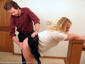 Real Spankings Institute - Brooke Is Spanked By The Dean (part 1 Of 2) - image 13