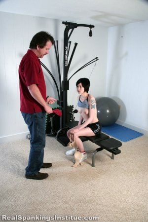 Real Spankings Institute - Lila Paddled For No Bra - image 3