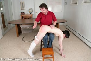 Real Spankings Institute - Lila Hand Spanked Otk By The Dean - image 1