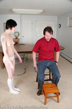Real Spankings Institute - Lila Hand Spanked Otk By The Dean - image 2