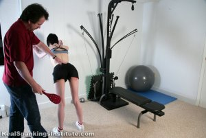 Real Spankings Institute - Lila Paddled For No Bra - image 6