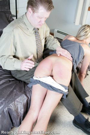 Real Spankings Institute - Monica Spanked By Danny (part 1 Of 3) - image 1