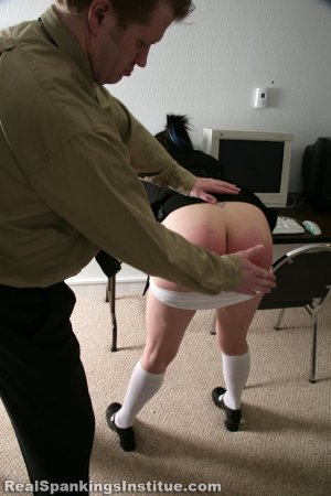 Real Spankings Institute - Jade Found Sleeping In Study Hall - image 17