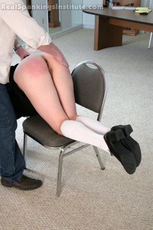 Real Spankings Institute - Jade And Riley Late To A Study Session (part 1 Of 2) - image 16