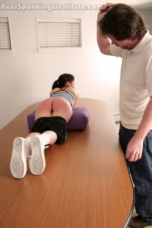 Real Spankings Institute - Samantha Strapped For Being Late To Gym - image 2