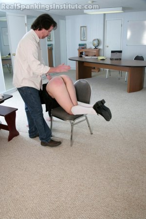 Real Spankings Institute - Jade And Riley Late To A Study Session (part 1 Of 2) - image 11