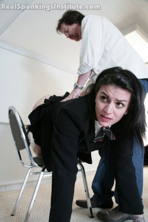 Real Spankings Institute - Jade And Riley Late To A Study Session (part 1 Of 2) - image 1