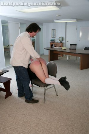 Real Spankings Institute - Jade And Riley Late To A Study Session (part 1 Of 2) - image 17