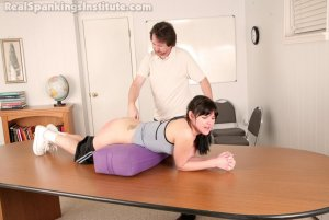 Real Spankings Institute - Samantha Strapped For Being Late To Gym - image 17