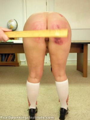 Real Spankings Institute - Frankie And Riley Punished By The Dean (part 4 Of 4) - image 8