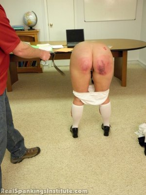 Real Spankings Institute - Frankie And Riley Punished By The Dean (part 2 Of 4) - image 12