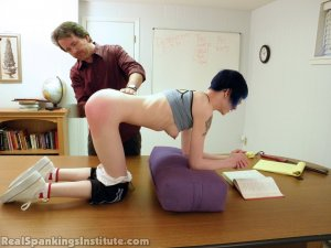Real Spankings Institute - Lila Punished For Failing Math Grades (part 2 Of 2) - image 2
