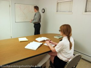 Real Spankings Institute - Ivy Punished By The Assistant Dean (part 1 Of 2) - image 18