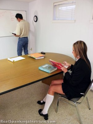 Real Spankings Institute - Late For Detention - image 1