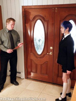 Real Spankings Institute - Lila Punished By The Assistant Dean (part 1 Of 2) - image 8