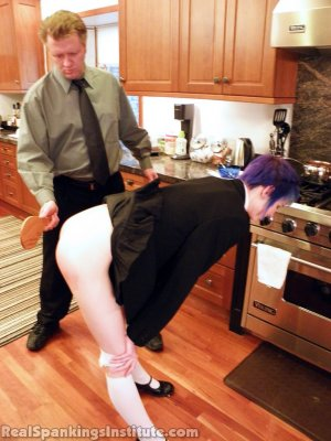 Real Spankings Institute - Lila Punished By The Assistant Dean (part 2 Of 2) - image 13