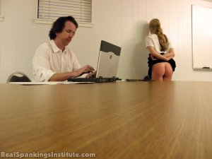 Real Spankings Institute - Monica Spanked By Miss Kay And The Dean - image 4