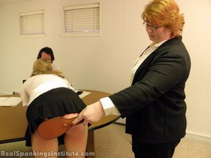 Real Spankings Institute - Monica Spanked By Miss Kay And The Dean - image 1