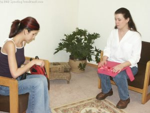 Spanking Teen Brandi - Dress Code Violation - image 1