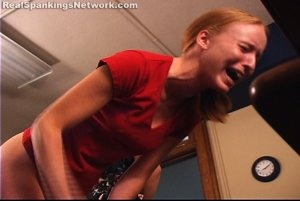 Spanking Teen Jessica - Jessica Is Paddled For Ditching Mrs. Burns Class - image 1