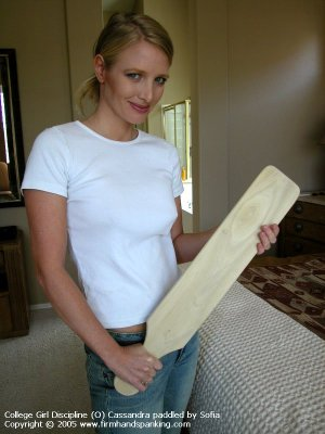 Firm Hand Spanking - 01.07.2005 - Board On Tight Jeans - image 2