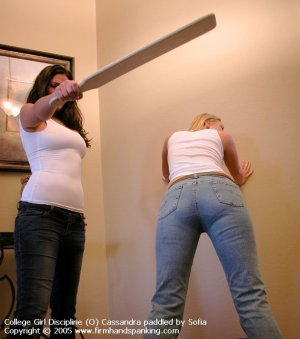 Firm Hand Spanking - 01.07.2005 - Board On Tight Jeans - image 5