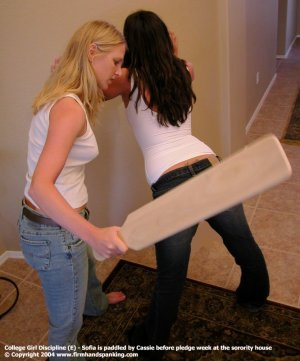 Firm Hand Spanking - 01.10.2004 - Board On Tight Jeans - image 5