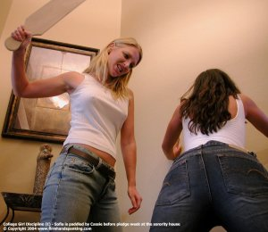 Firm Hand Spanking - 01.10.2004 - Board On Tight Jeans - image 16