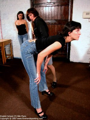 Firm Hand Spanking - 14.12.2007 - Hard Swats On Tight Jeans - image 1