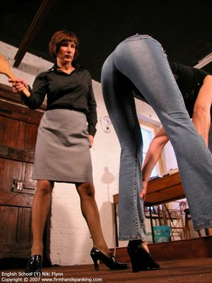 Firm Hand Spanking - 14.12.2007 - Hard Swats On Tight Jeans - image 3