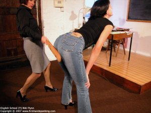 Firm Hand Spanking - 14.12.2007 - Hard Swats On Tight Jeans - image 2