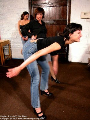 Firm Hand Spanking - 14.12.2007 - Hard Swats On Tight Jeans - image 8