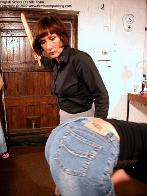 Firm Hand Spanking - 14.12.2007 - Hard Swats On Tight Jeans - image 4