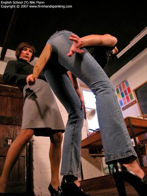 Firm Hand Spanking - 14.12.2007 - Hard Swats On Tight Jeans - image 9
