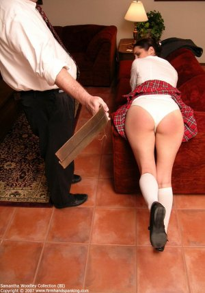 Firm Hand Spanking - Tawse On White Panties - image 3