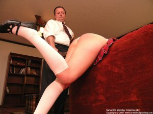 Firm Hand Spanking - Tawse On White Panties - image 12